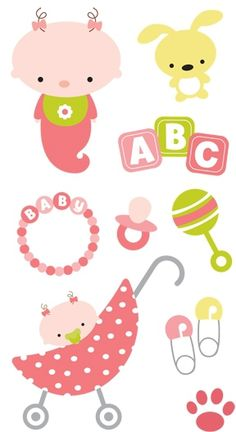 Oh Baby Girl - Scrapbooking Stickers