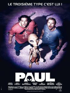 Paul est un film de Greg Mottola avec Simon Pegg, Nick Frost. Synopsis : Depuis 60 ans, Paul, un extraterrestre, vit sur terre et collabore avec le gouvernement américain. Il se cache à l'abri des regards dans une base mili