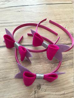 Headband with felt bow