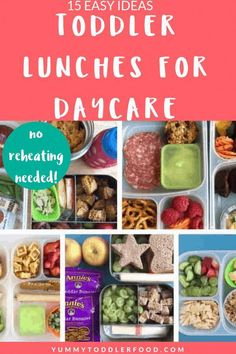 Make coming up with toddler lunch ideas easier with these healthy ideas that don't need to be reheated. You can pack these lunches ahead of time and they'll still be yummy at daycare and preschool! Source by yummytoddlerfood Healthy Toddler Lunches, Toddler Lunch Box, Toddler Daycare, Toddler Food, Toddler Lunchbox Ideas, Healthy Toddler Breakfast, Healthy Kids, Daycare Meals, Kids Meals