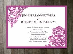 Pantone Color of the Year 2014-Radiant Orchid Wedding Ideas and Wedding Invitations -InvitesWeddings.com