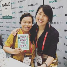 So excited to get my hands on an advance copy of my pal @katyehbooks upcoming novel The Way to Bea at @bookexpo today. The book comes out September 19th! Can't wait to read! #bookexpo #katyeh #joycewan #kidlit