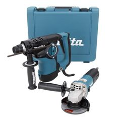 Makita SDS Plus Rotary Hammer 1-1/8 in. with 4-1/2 in. Angle Grinder-HR2811FX at The Home Depot