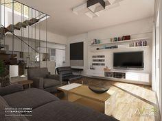 Reforma de una vivienda en Barcelona. House refurbishment in Barcelona. www.avistaderender.com