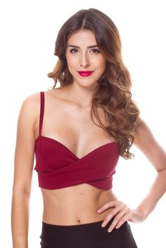 FOREIGN EXCHANGE | CRISS CROSS SWEETHEART BANDEAU TOP - BODYSUITS & BUSTIERS - TOPS