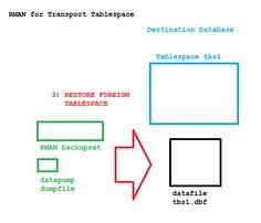 RMAN TTS on the destination database