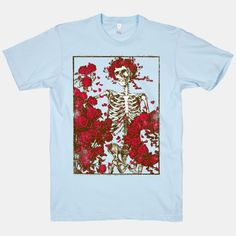 Flowers And A Skeleton (Vintage Shirt) | HUMAN