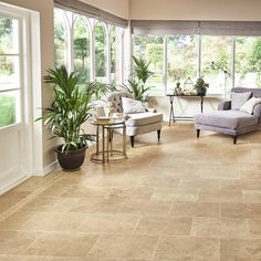 What Type of Flooring is Right For My Living Room? Vinyl Flooring Kitchen, Luxury Vinyl Flooring, Living Room Flooring, Basement Flooring, My Living Room, Living Room Decor, Basement Laundry, Karndean Flooring, Stone Flooring