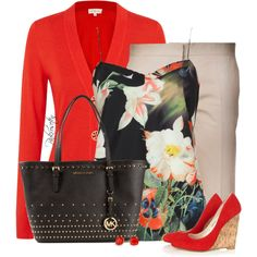 red & flowers