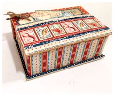 Love this altered Book Box with By the Sea from Diane's workshop. So beautiful! #graphic45 #bythesea