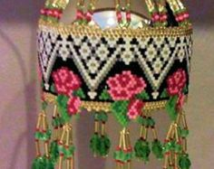 Free Seed Bead Ornament Patterns | ... and lace woven delica bead christmas ornament 45 00 usd sklstyles