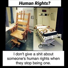 """When people protest the death penalty, saying it's cruel, inhumane & we shouldn't sink to the level of barbarity of the """"person"""" on death row....I feel like telling them to go F#ck themselves. MONSTERS need to be put down!"""