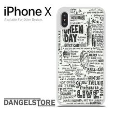 Green Day Lyrics For iPhone X #iphonexcase,