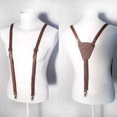Custom leather suspenders www.cocuan.com