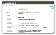 chroma.js крошечная библиотека #JavaScript (12KB) для работы с цветами! #color