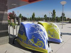 Places where BikeLid bicycle storage pods live and breath. Bike Storage Pod, Storage Pods, Bicycle Friendly Cities, Outdoor Bike Storage, Parking Solutions, Bike Components, Bike Parking, Commuter Bike, Street Furniture