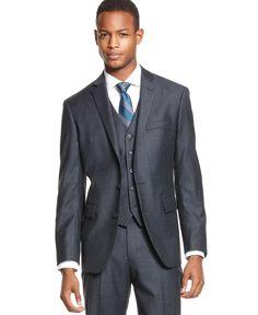 c8bda0326cd9 Ryan Seacrest Distinction Blue Flannel Slim-Fit Jacket Men - Blazers    Sport Coats - Macy s