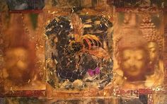 """Buzz of the Buddha"" 2015 Over The Years, Buddha, Mixed Media, Drawings, Artist, Painting, Painting Art, Mixed Media Art, Paintings"
