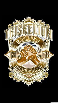 #triskelion #tau gamma #wallpaper #gold #50 #android #iphone #jheretski #deviantart Tau Gamma, Broken Heart Wallpaper, Black Wallpaper, Tattoo Designs, Android, Deviantart, Mood, Iphone, Collection