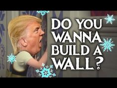 Do You Wanna Build A Wall? – Donald Trump (Frozen Parody) Do You Wanna Build A Wall? – Donald Trump (Frozen Parody),Black Humor Comedy and the Souls of Black Folks Do You Wanna Build. Funny Disney Jokes, Crazy Funny Memes, Disney Memes, Funny Jokes, Trump Wall Meme, Trump Meme, Frozen Jokes, Funny Frozen Memes, Jokes