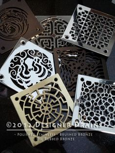 designer drains for the shower
