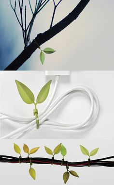 Leaf tie #cable tie _ Lufdesign
