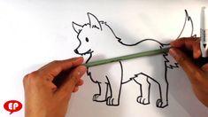 wolf easy drawing draw cute drawings baby simple kawaii animals person getdrawings head