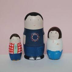 Family nesting dolls. Matryoshka dolls.