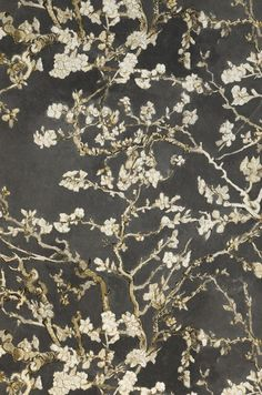 VanGogh Blossom | Floral wallpaper | Wallpaper patterns | Wallpaper from the 70s