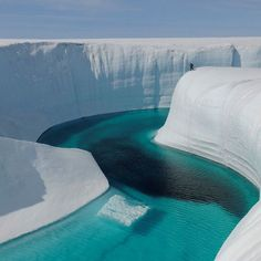 Most beautiful places in the world: Grand Ice Canyon Greenland Landscape