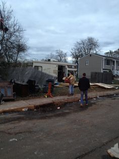 Superstorm Sandy, delivering lunches to many Port Monmouth, NJ residents. Photo by Denise Deickmann