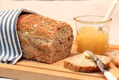 4-korns hvetebrød | TRINES MATBLOGG Korn, Banana Bread, Food And Drink, Baking, Desserts, Recipes, Image, Breads, Tailgate Desserts
