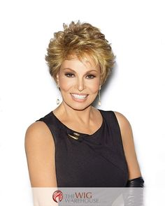 Short and sassy, the Center Stage wig by Raquel Welch is a lively cut with soft, lightly curled layers that frame the face and brush the forehead. This classic cut is easy to wear and to style, as wel