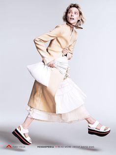 Razor's Edge: #SashaPivovarova by #DavidSims for #VogueUS January 2014