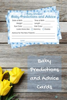 Have your guests guess the baby's birth date, weight, length, time of birth, eye color, hair color and who the baby looks more like-mommy or daddy! #babyboy #babyshower #itsaboy
