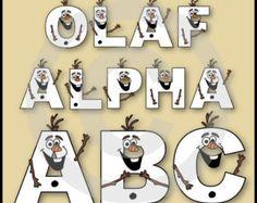 Olaf (Frozen) Alphabet Clipart Set