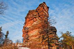 """A rock named """"Krimhildenstein"""" nearby Gossersweiler-Stein, Palatinate, Germany  Der Fels Krimhildenstein bei Gossersweiler-Stein, Pfalz, Deutschland"""