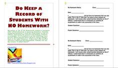 No Homework?...Inform the Parents: Parent Information Form