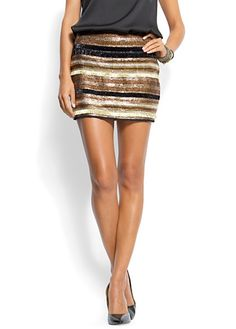 sparkle and stripes fashion.. Short skirt