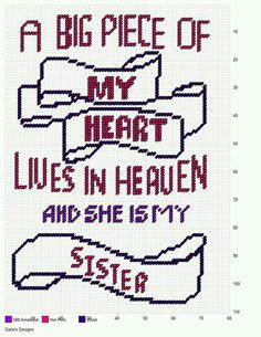 PIECE OF MY HEART * SISTER by DARLA'S DESIGN -- WALL HANGING