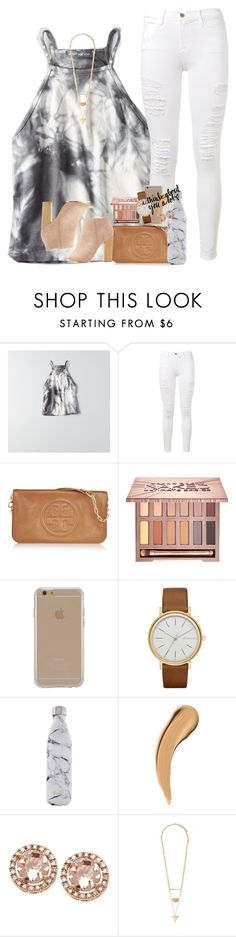 """""""mixed signals """" by ellaswiftie13 ❤ liked on Polyvore featuring American Eagle Outfitters, Frame Denim, Tory Burch, Urban Decay, Agent 18, Skagen, S'well, Forever 21 and Bamboo"""