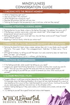 Conversation Guide One of 10 Tools in Mindfulness Toolbox For Your Classroom, Counseling Office Conversation Guide One of 10 Tools in Mindfulness Toolbox For Your Classroom, Counseling Office,R. Related posts:Beating The Social Work Exam:. Relaxation Scripts, Meditation Scripts, Guided Meditation, Counseling Office, Group Counseling, Counseling Activities, Elementary Counseling, Mindfulness For Kids, Mindfulness Activities