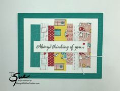 Balloon Words, Always Thinking Of You, Small Words, Basic Grey, Red Rhinestone, Snail Mail, Embossing Folder, Versailles, Stampin Up
