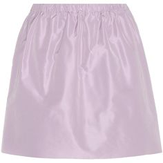 Miu Miu Miniskirt (6.350.775 VND) ❤ liked on Polyvore featuring skirts, mini skirts, bottoms, miu miu, purple, purple skirt, pink mini skirt, short pink skirt and short skirts