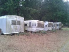 Several 1960s Vintage Travel Trailers for Sale in Washington