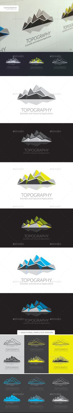 Topography Logo  EPS Template • Download ➝ https://graphicriver.net/item/topography-logo/9434828?ref=pxcr