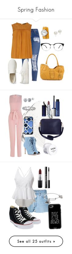 """""""Spring Fashion"""" by rozlynjanine ❤ liked on Polyvore featuring Dorothy Perkins, Gap, AK Anne Klein, Prada, Christian Dior, Gianvito Rossi, BERRICLE, Harry Kotlar, Humble Chic and Maybelline"""