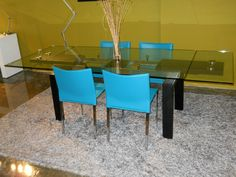 clear glass table with 2 hidden extensions turquoise chairs furniture toronto 700 kipling acrylic furniture toronto