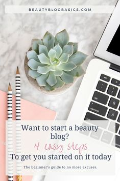 Tips on how to start a beauty blog. Start your own beauty blog today with these 4 easy steps. The beginner's guide to no more excuses! #bloggingtips #blogging