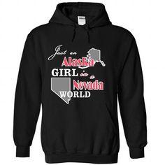I Love Design1 Just an Alaska Girl in Nevada World XMAS Shirt; Tee
